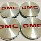 83mm GMC Silver Red Hubcap Wheel Cover Center Cap Set