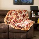 PIZZA Blanket Cover Funny Present Home Decor Bedroom