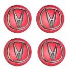 NEW 4x 69mm Acura Red Hubcap Emblem Logo Emblem Hubcap Car Wheel