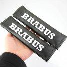 2pcs Carbon Fiber Brabus B Logo Seat Belt Cover Shoulder Pad
