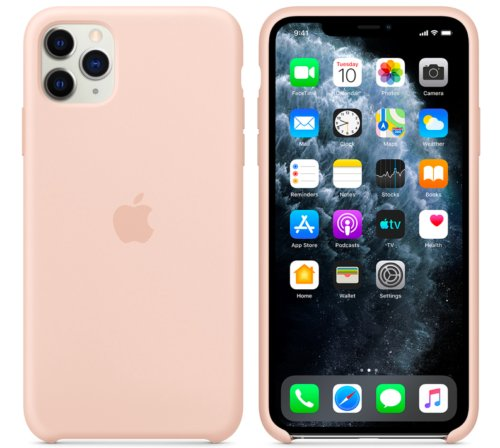 Apple Pink Sand Silicone Case for iPhone 11 Pro Protection Cover