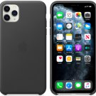Apple Black Genuine Leather Case for iPhone 11 Pro Max Protection Cover