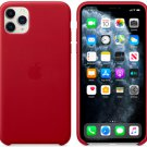 Apple Red Genuine Leather Case for iPhone 11 Pro Max Protection Cover