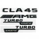 CLA45 AMG TURBO 4MATIC Black Trunk Side Sticker Logo Emblems for Mercedes Benz