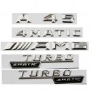 Chrome Letters Emblem Sticker Badges for Mercedes Benz W176 A45 AMG TURBO 4 MATIC