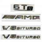 Chrome Letters Trunk Fender Badges Emblems for Mercedes Benz AMG GT S V8 BITURBO