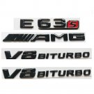 Gloss Black 3D Letters E63s AMG V8 BITURBO Emblems for Mercedes Benz W212 W213