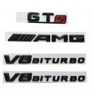 Black Letters Trunk Fender Badges Emblems for Mercedes Benz AMG GT S V8 BITURBO