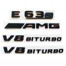 All Matt Black E63s AMG V8 BITURBO Emblems Emblem for Mercedes Benz W212 W213