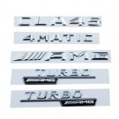 Chrome Set Trunk Emblem Number Letters Sticker for Mercedes Benz AMG CLA45 4MATIC