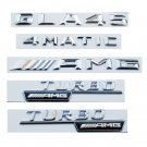 Chrome Letters Trunk Fender Emblems for Mercedes Benz GLA45 TURBO 4MATIC AMG