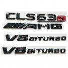 Gloss Black 3D Letters CLS63s AMG V8 BITURBO Emblems for Mercedes Benz X218 C218