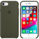 Olive Green Apple Genuine Original Silicone Cover Case for iPhone SE 8