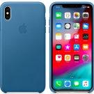 Apple iPhone XS 5,8″ Genuine Original Leather Case Cover - Cape Cod Blue