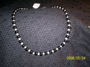 Black Onyx and Moonstone Neclace