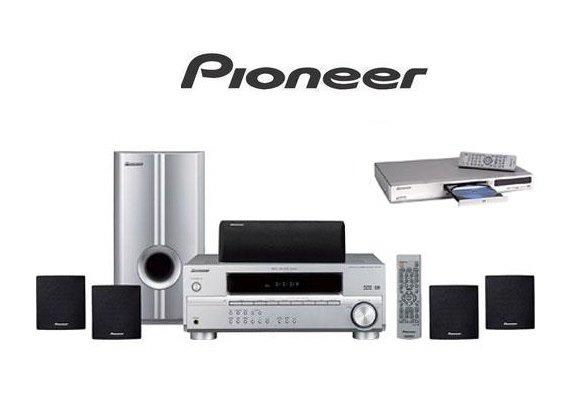 Pioneer HTP2500S - 1000 Watt Home Theater Systems + DVD Player