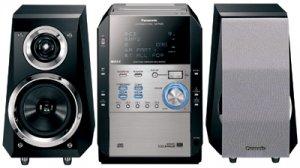 Panasonic SCPM29 140Watts 5-CD Changer CD + Cassette Micro System