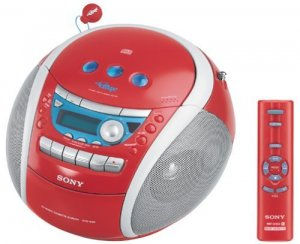 Sony CFD-E95 PSYC Boombox (Red)