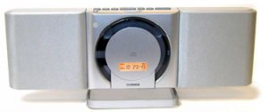 Fisher PH-DTA120 Stylish slim style CD Player with Timer, Clock and Sleep Function