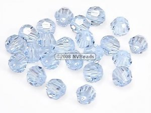 24 SWAROVSKI CRYSTAL ELEMENTS #5000 FACETED ROUND BEADS 3MM LAVENDER