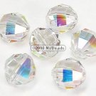 24 SWAROVSKI 5004 RECT FACET BEADS 4MM CRYSTAL AB