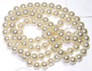 100 SWAROVSKI 5810 FAUX PEARL BEADS 5MM CREAM