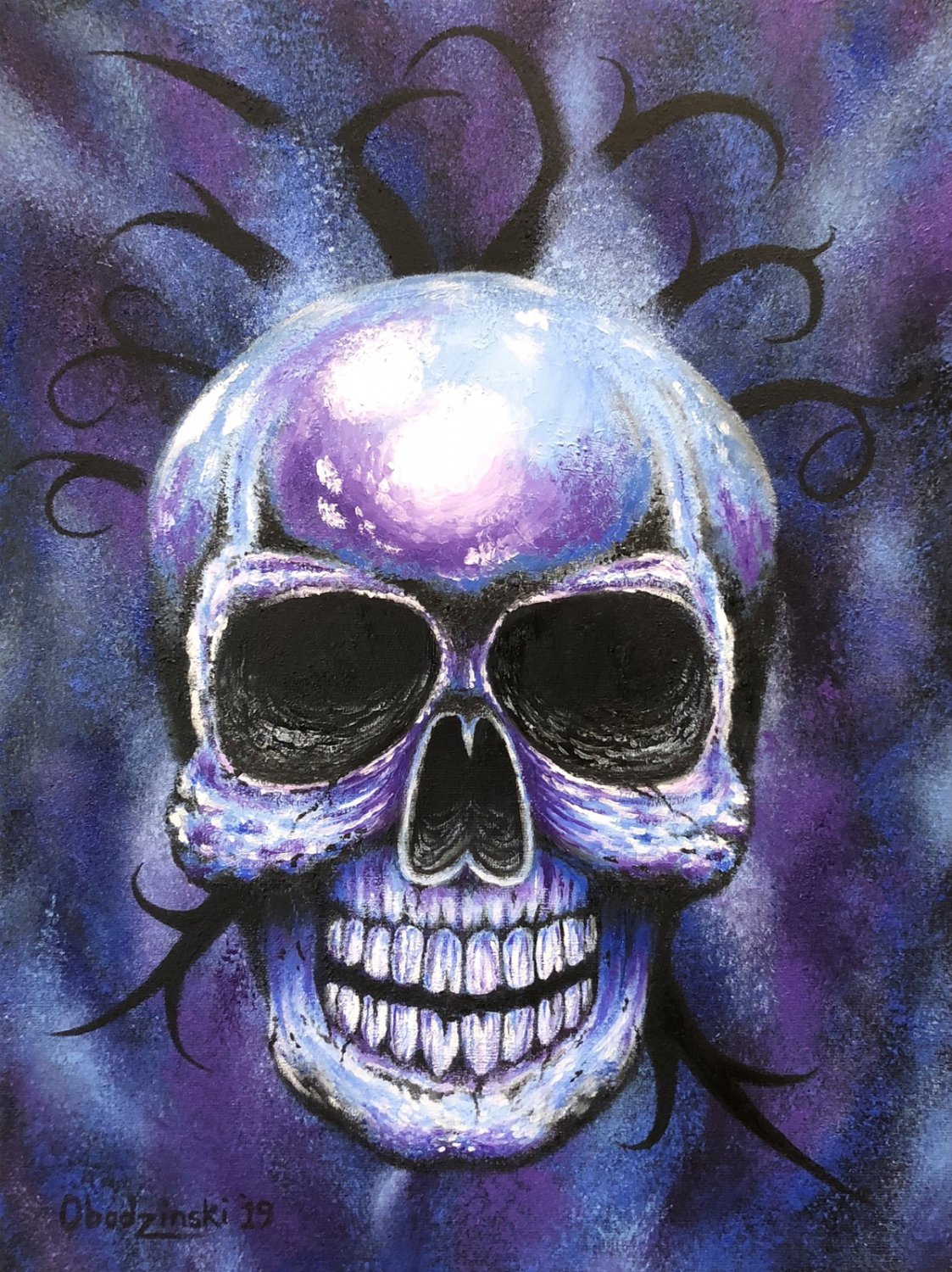 """From the Darkness"" Skull Art by Gregg's Deep Colors"