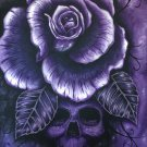 """Purple Haze"" Skull and Rose Art by Gregg's Deep Colors"
