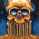 """All that Glitters is Gold"" Skull Art Poster Print by Gregg's Deep Colors"