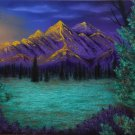 """""""Purple Mountains' Scenic Mountains and Sunset Art Poster Prtnt by Gregg's Deep Colors"""