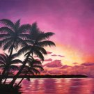 """Serenity"" Tropical Island Sunset Scenic Art by Gregg's Deep Colors"