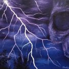"""Electric Sky"" Skull forming in an Electrical Storm Fantasy Art by Gregg's Deep Colors"