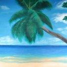 """Seychelles"" Tropical Island Beach Artwork Poster Print by Gregg's Deep Colors"