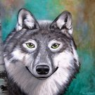 """On the Prowl"" Wolf in a Forest Artwork by Gregg's Deep Colors"