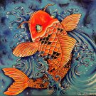 """Koi Fish"" Oriental Tattoo Style Artwork by Gregg's Deep Colors"