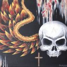 """""""Black"""" Winged Sull with Cross Artwork Poster Print by Gregg's Deep Colors"""