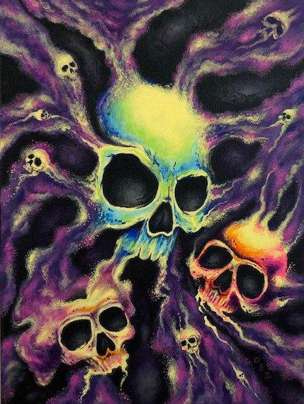 """Psychedelia"" Skull Poster Art Print"