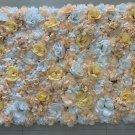 champagne orange Silk Rose Artificial Flower Wall Home Decoration Romantic Wedding Backdrop 40x60cm