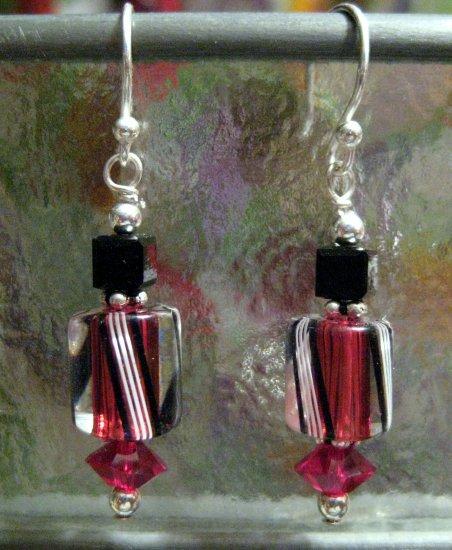 Raspberry Guards Ear Cane-dy - Earrings