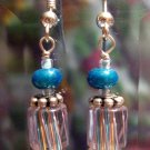 Petit Four Blue Ear Cane-dy - Earrings