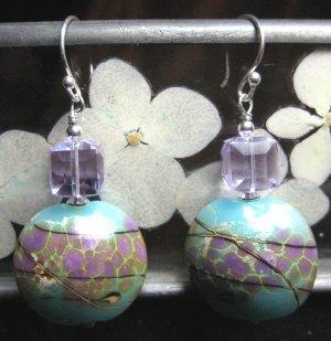 Water Lilies - Earrings