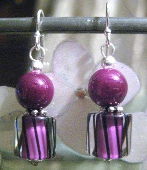 Raspberry Bounce - Earrings