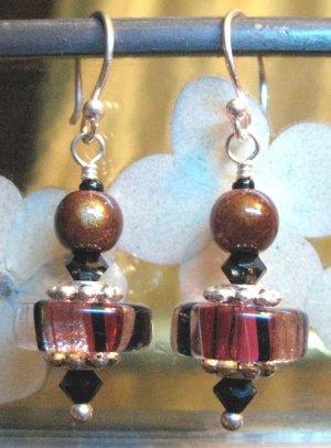 Raspberry Mochaccino - Earrings