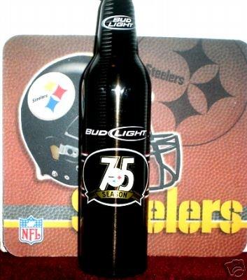 Pittsburgh Steelers EMPTY 75th Anniversary Bud Light Bottle