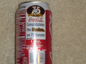 Pittsburgh Steelers 75th Anniversary Coca Cola Can