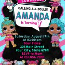 LOL DOLL DIGITAL BIRTHDAY INVITATION