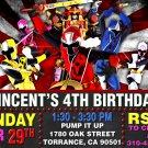 POWER RANGERS DIGITAL BIRTHDAY INVITATION