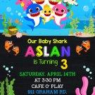 BABY SHARK DIGITAL BIRTHDAY INVITATION