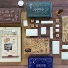 Retro Sonnet series wood stamp set DIY craft wooden stamps for scrapbooking