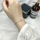 LAMOON Rose Quartz Gemstone Bracelets For Women Sterling Silver 925 Jewelry